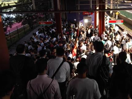 Sao Paulo Metro rush hour