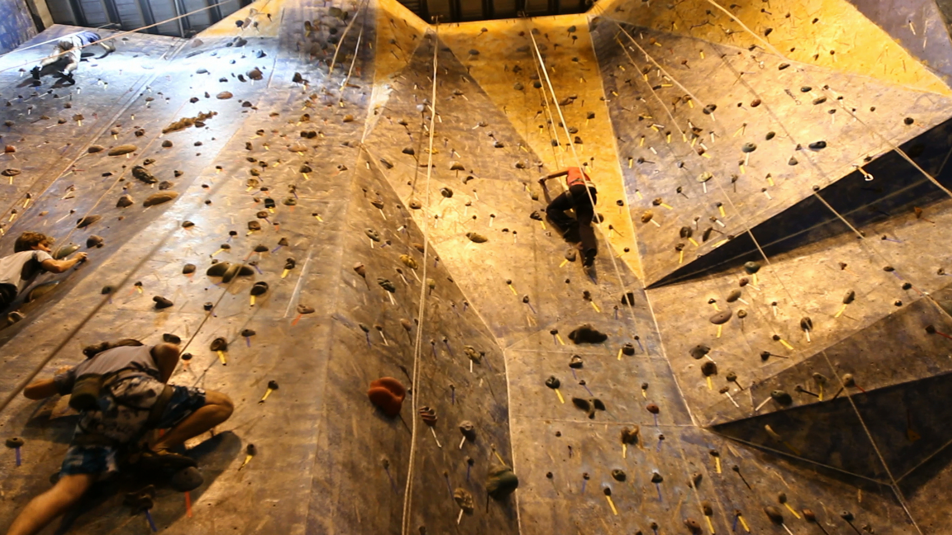 Training At The Climbing Wall 360 Extremes Expedition