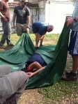Wrapping a hypothermic patient