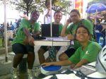 Chegada em Santos, depois de uma descida repleta e subidas de bike