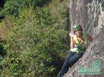 Conquistando uma via em Salesópolis, SP