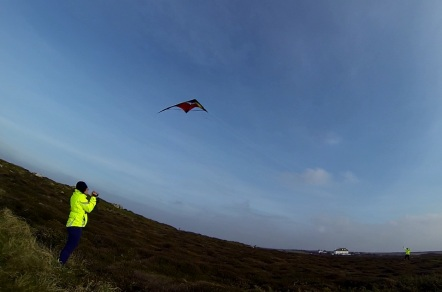 Flying high with a stunt kite by Land's End