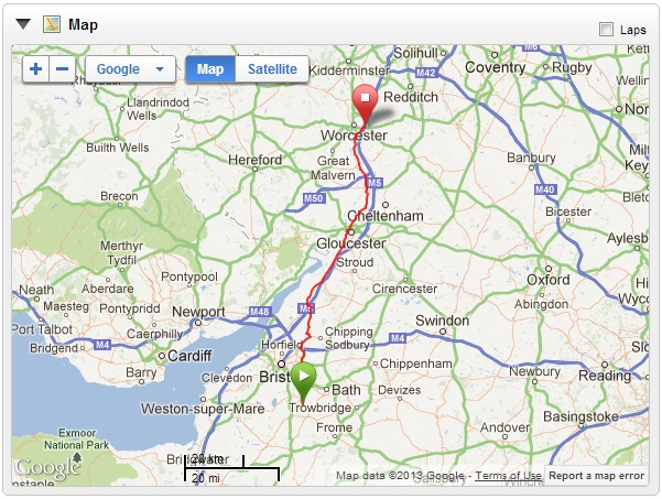 Map - Timsbury - Worcester
