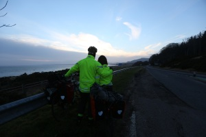 Enjoying the view along the coast near Brora at dusk