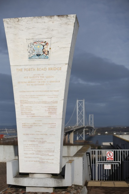 Entrance to the Forth Road Bridge
