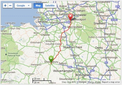 Map - Shrewsbury - Heald Green