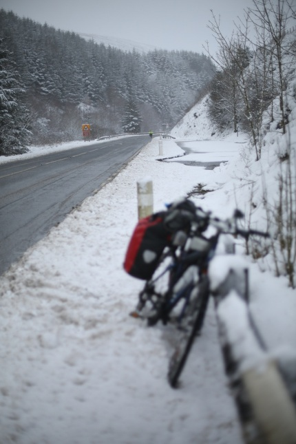Coming through the snow - beautiful but tricky conditions