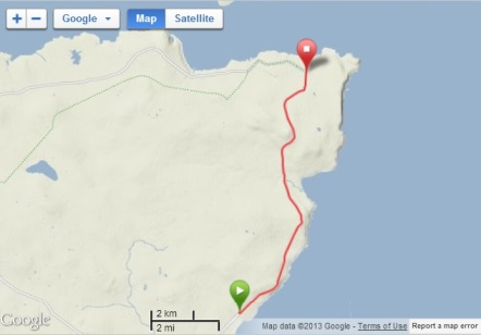 Route to John O'Groats