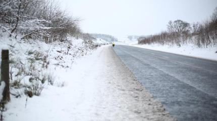 Riding through the snow